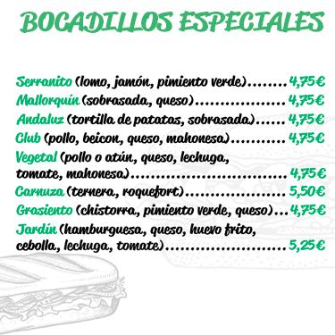 Bocadillos Especiales en Sant Andreu de la Barca