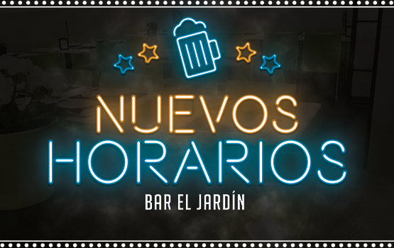 Nuevos Horarios Bar el Jardín 2020